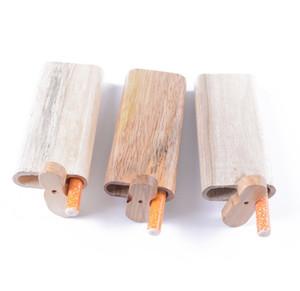 Un Hitter Pirogue pipe à la main en bois Pirogue avec Digger verre pipe Filtres de cigarettes Pipes Smoking Pipes en bois Pirogue pipe Box