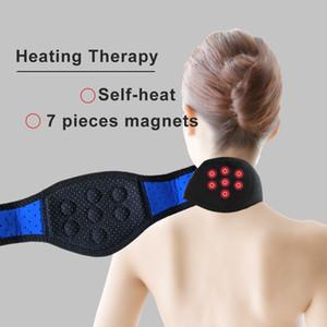 Tourmaline Neoprene Neck Support Brace Magnetic Therapy Wrap Protéger Bande Tourmaline Réchauffeurs pour La Douleur Au Cou