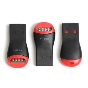 300pcs / lot بالجملة متوافق مع USB 2.0 MicroSD T-Flash TF قارئ بطاقة الذاكرة صافرة ستايل