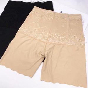 Più le donne Pantaloni a vita alta sicurezza del ventre Body Shaping floreale Shapewear biancheria intima femminile mutande piane