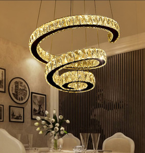 Современные светодиодные спиральные хрустальные люстры освещение для фойе лестница Лестница спальня отель HallCeiling подвесной светильник LLFA