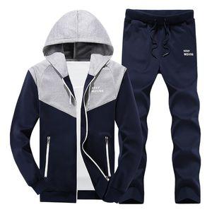 2018 nuovi, maschio e femmina set Coppia sportivo, Moda Plus Size MYAZHOU uomo incappucciato sportivi, set di colori signore mosaico