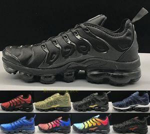 박스 큰 크기 미국 13 TN 플러스 자홍색 블랙 남성 여성 신발을 실행 그리드 레몬 라임 땅벌 게임 로얄 트레이너 스포츠 운동화 인쇄