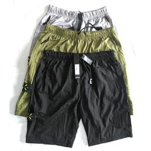 19ss européen hot marques rétro shorts occasionnels pantalons de survêtement de plage pour pantalons pour hommes pantalon en nylon importé en métal confortable amateurs de rue cuisse pantalon