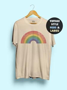 Hillbilly Vintage arcobaleno delle donne della maglietta divertente sveglia della maglietta Tee gay AF Tee Shirts LGBT Gay Lesbiche Camicia Uomo '70 Orgoglio 1970 Y200110