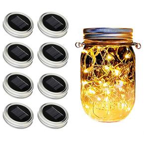 Lampes solaires Jar Mason, fée étoile Jar Firefly Couvercles lumières, pour le meilleur pot Mason décor, super décor extérieur Pelouse pour Patio Jardin