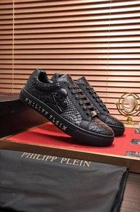 Мужская высококачественная кожа pp череп мужская повседневная обувь мужская спортивная обувь-404