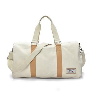 100% хлопок большой емкости чистый цвет дорожная сумка для мужчин высокое качество мода сумки опрятный стиль белый пластиковый пакет