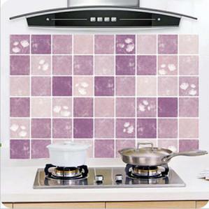 Çini Çıkartma Duvar Mutfak Banyo Alüminyum Folyo Çıkartması Ev Dekorasyonu Duvar Çoklu Renk Desenler 45x75cm