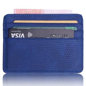Оптовая Mini Travel Lizard Pattern Кожа банка Бизнес Id держателя карты Wallet чехол для мужчин Женщины с Id Window