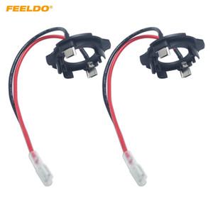 FEELDO 2x Auto H7 LED Scheinwerferlampenhalter Clip Halter Für Volkswagen Golf5 MK5 GTI Jetta LED Birne Sockel Adapter