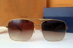 Z0259U новая мода классические солнцезащитные очки отношение солнцезащитные очки золотой оправе квадратный металлический каркас винтажный стиль открытый дизайн классическая модель