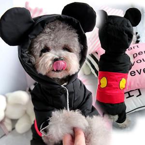 Carino inverno caldo vestiti del cane tuta Piccolo Cane Tuta Yorkies Yorkshire Terrier manto impermeabile cucciolo di Chihuahua Pet Costume T200101