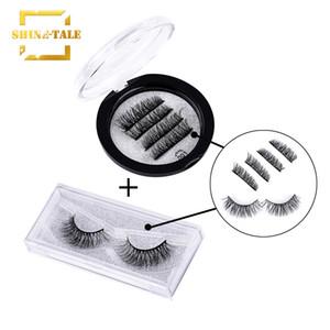 Shine-tale Natural False Eyelashes 3D Natural Look Handmade Reusable Lashes Extension Magnetic Plus Glue Eyelashes CI001+A12