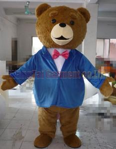 Teddy Bear талисман костюм Топ класса люкс мультипликационных персонажей костюмы Бурый медведь талисман костюм Необычные платья партии масленицы Бесплатная доставка