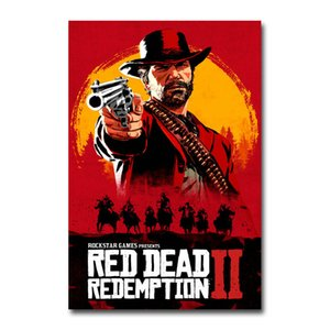 Red Dead Redemption 2 Game Canvas Poster Wall Art Print Painting 20x30 60x90cm Wallpaper Decorative Wall Picture for Living Room