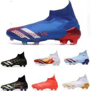 Predator 20+ Uniforia FG Kinder Jugend-Fußball-Fußballschuhe Ort Klampen Stiefel Hohe Ankle Schattenläufer Royal Blue Red Tormentor Pack-Klampen