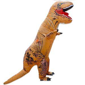 Хэллоуин и Рождество Взрослых Динозавров T REX Костюм Парк Юрского Мира Blowup Динозавров Надувной Костюм Партии талисман Костюм игрушка