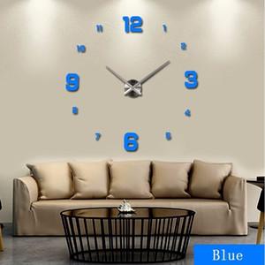 2020 muhsein grand bricolage Acrylicl Miroir 3D Horloge murale personnalisée Horloges numériques Envoi gratuit Y200407