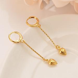 Дубай, Индия, Африка, золотая серьга, милая клубника, трехмерная бахрома, сувенир на свадьбу девушки