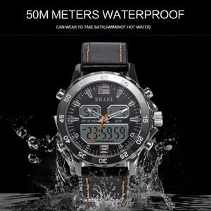 2020 Sportuhr Wasserdicht echte Dual-Display-Quarz WristwatchesCool Mann Uhr arbeitet intelligente Digitaluhr LED-Männer 1281