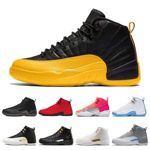 XairJordanrétro12 Hommes Chaussures de basket-ball hiberné Gym Collège Red Bulls Marine CNY hommes Sport Sneakers Taille 7-13