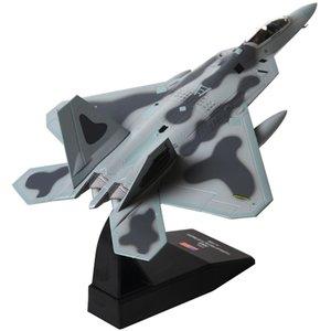 1/100 Maßstab Flugzeug Modell Spielzeug USA F22 F22 Raptor Kämpfer Diecast Metallflugzeug Modell Spielzeug für Kinder Geschenk-Ansammlung Freies Verschiffen Y200428