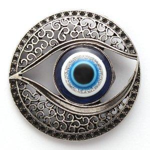 1pc Alaşım Göz Charms Mıknatıslar Hollow Evil Eye Mücevher Mavi Evil Çıkartma Manyetik kolye DIY El Yapımı Takı 43mm