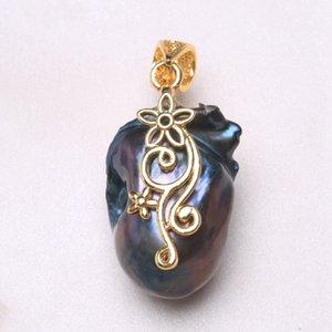 BaroqueOnly павлин зеленый натуральный пресноводный жемчуг кулон chocker глубокий цвет жемчуг Ожерелье лучший подарок PQK большие продажи девочки
