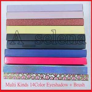 Tipos famoso multi 14 cores da paleta da sombra + escova macia Clam sensual Mordern Prism Bybel Alyssa Beverly Riviera Subcultura