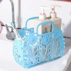 Bathroom Hollow Wash Plastic Handbasket Bath Storage Basket