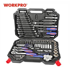 Reparação WORKPRO 123PC Car Tool Set Mechanic Kits de ferramentas Chaves de fenda Ratchet Spanner Chaves Sockets T200322