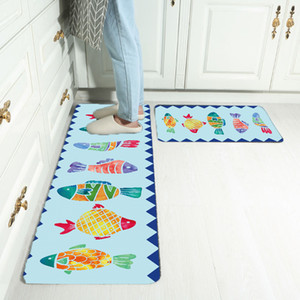 Buy Big And Give Small New Fashion Cartoon Kitchen Carpet Design 100% Polyester 6 Styles Anti-slip Runner Carpet for Living room,Bedroom