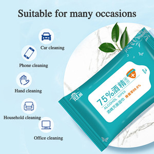 75% Alcohol Wet Wipes 10pcs pack Disinfection Portable Alcohol Swabs Pads Wipes Antiseptic Cleanser Cleaning Sterilization wholesale