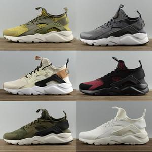 2019 Huarache 4 Erkek Kadın Çocuk Koşu Ayakkabıları Tüm Beyaz Hurhaes 3 Zapatos Ultra Solunum Huaraches Erkek Eğitmenler Hurla 2 SE Spor Sneakers