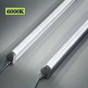 8 pies de LED Shop luz Fixture 72W 6000K blanca Forma V de 8 pies 6 pies 5 pies 4 pies 3 pies 2 pies 1 pie T8 tubo refrigerante Integrated Lights 25-pack