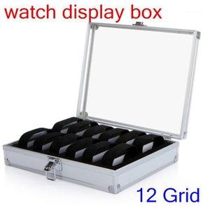 Wrist Watch Display holder Box Aluminium container 12 Grid Jewelry watch Storage Holder Organizer Case Quality1