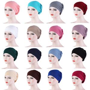 16 couleurs foulard musulman talonnage Cap, Nuit Dormir Cap, Turban, Cap, Bonnet de douche, chapeaux cosmétiques, XD23522 multi-couleurs