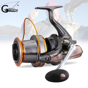 3000-9000S 12+1Ball Bearings Spinning Reel Small Big Spinning Reel with Coil No Gap Aluminum Alloy Fish Reels