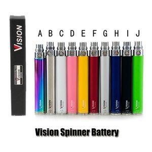 Görüş Spinner pil 650/900/1100/1300 mAh Ego C büküm değişken gerilim VV Elektronik Sigara e çiğ pil için Ego konu Atomizer