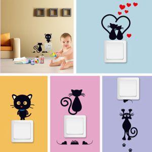 50Pcs nette Tier Removable DIY Switch Panel-Aufkleber für Kind-Baby-Raum Kinderzimmer Dekoration