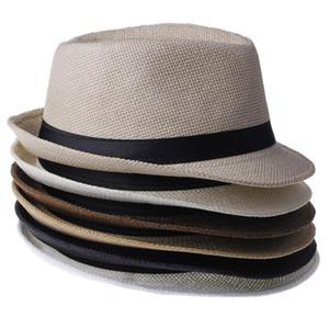 High quality Panama Straw Hats Fedora Soft Vogue Men Women Stingy Designer Caps 6 Colors Choose
