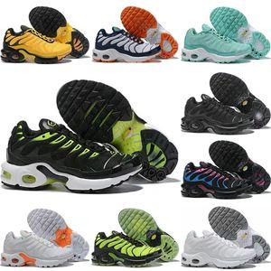 NIKE AIR MAX TN 2019 Novo TN Plus Crianças Sapatos de Corrida Preto Branco para Meninos Meninas Tns Designer de Tênis Esportivos Juventude Casual Trainers des chaussures 28-35