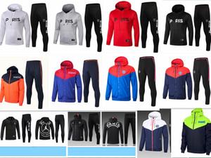Nouveau pull avec capuche MBAPPE 18/19 PSG veste de football à capuche Casual Pullover 2019 Paris Pulls à capuche manteau coupe-vent En soldes