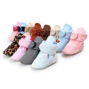 Bebek Boys Kız Boots Ayakkabı Yenidoğan Bebek Pamuk Yumuşak Kaymaz Sıcak Fleece Patik Sıcak Kış Çorap Terlik Yatağı Ayakkabı