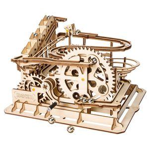 재미 있은 대리석 뛰기 게임 Diy Waterwheel 코스터 나무로되는 모형 건물 장비 집합 장난감 제일 크리스마스, 생일 선물을 위해