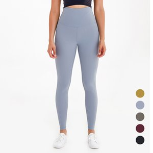 Yüksek bel Kadın yoga pantolonları yüksek elastikiyet yumuşak çıplak ışık tozluk spor spor pantolon tasarımcı bayanlar egzersiz pantolon L-28 çalışan