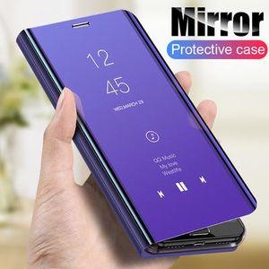 Espejo elegante original de teléfono del caso para Samsung Galaxy S20 Ultra caso para S20 Plus de lujo Claro Funda de cuero para Samsung Galaxy S20