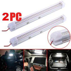 72LED 12V voiture intérieur bande blanche lumières Bar lampe Van Caravan ON OFF 72LED inspection voiture lumière Compartiment lumière