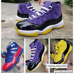 Style Jumpman Purple Lakers Yellow Bumblebee Men Basketball Shoes 11 11s Bulls Designer Sports Sneakers size 7-13